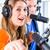 radyo · genç · mikrofon · kulaklık · müzik · parti - stok fotoğraf © kzenon