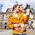 couple taking walk at semperoper in dresden stock photo © kzenon