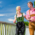 couple visiting bavarian fair having fun stock photo © kzenon
