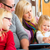 vader · lezing · boek · gelukkig · liefhebbend · familie - stockfoto © kzenon