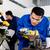 アジア · ワーカー · ドリル · 生産 · 工場 · 訓練 - ストックフォト © kzenon