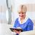 старший · женщину · используя · ноутбук · компьютер · домой - Сток-фото © kzenon