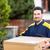 courier delivering parcel to recipient stock photo © kzenon