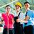 işçi · müdür · tasarımcı · Çin · fabrika · vardiya - stok fotoğraf © Kzenon