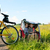 aile · bisiklet · iki · çocuklar · binicilik · bisikletler - stok fotoğraf © kzenon