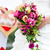bride in gown with bridal bouquet and doves stock photo © kzenon