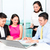 asian banker team counseling couple in office stock photo © kzenon