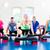 weight training in the gym doing pushups stock photo © kzenon