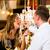 счастливым · пару · ресторан · есть · быстрого · питания · человека - Сток-фото © Kzenon