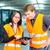 倉庫 · 会社 · チームワーク · フォークリフト · ドライバ - ストックフォト © kzenon