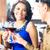 romantische · paar · glas · rode · wijn · zitten - stockfoto © kzenon