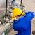 産業 · 金属 · 建設 · 先頭 · 冬 · ワーカー - ストックフォト © kzenon