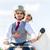 ブライダル · ペア · 運転 · モータ · スクーター · 着用 - ストックフォト © kzenon