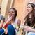 girls having drink together on bachelorette party stock photo © kzenon