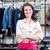 güzel · genç · kadın · satın · alma · elbise · Internet · kadın - stok fotoğraf © kzenon