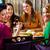 młodych · ludzi · jedzenie · asia · restauracji · żywności · kobiet - zdjęcia stock © kzenon
