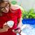 женщину · питьевой · кофе · телефон · балкона · смартфон - Сток-фото © kzenon