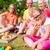 família · piquenique · jardim · casa · casa - foto stock © kzenon