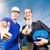 zonne-energie · twee · werknemers · zonnepanelen - stockfoto © kzenon