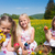 Children on Easter egg hunt with eggs stock photo © Kzenon