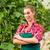 Female commercial gardener in green house stock photo © Kzenon