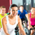 jóvenes · fitness · personas · moto · instructor · gimnasio - foto stock © kzenon