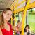 kadın · otobüs · okuma · kitap · kadın · kızlar - stok fotoğraf © kzenon