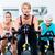 genç · fitness · woman · eğitmen · bisiklet · spor · salonu · adam - stok fotoğraf © kzenon