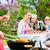 группа · людей · еды · питьевой · вино · благодарение · день - Сток-фото © kzenon
