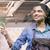 donna · sorridente · pulizia · Windows · sorridere · donna · nera · vetro - foto d'archivio © kzenon