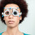 kadın · test · yeni · gözlük · gözlükçü - stok fotoğraf © kzenon