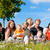 family and multi generation   fun on meadow in summer stock photo © kzenon