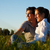 couple on meadow in sunset stock photo © kzenon