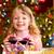 Noel · küçük · kız · noel · sunmak · mutlu · aile - stok fotoğraf © Kzenon