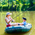 couple in boat on pond or lake fishing stock photo © kzenon