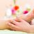 femme · pied · massage · pédicure · fleurs - photo stock © Kzenon