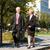 üzletemberek · beszél · kint · sétál · park · üzlet - stock fotó © kzenon