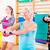 グループ · フィットネス · 訓練 · バー · 小さな - ストックフォト © Kzenon
