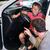 apa · fia · új · autó · kereskedő · bemutatóterem · család · gyerekek - stock fotó © kzenon