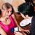 男 · ガールフレンド · レストラン · カップル · 休日 · 笑みを浮かべて - ストックフォト © kzenon