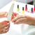 nő · manikűrös · manikűr · kezek · rózsa · nők - stock fotó © Kzenon