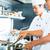 séfek · étterem · hotel · konyha · főzés · kettő - stock fotó © kzenon