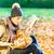 menina · leitura · livro · floresta · mulher · jovem · relaxante - foto stock © kzenon