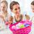family having fun coloring easter eggs stock photo © kzenon
