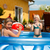 children playing with ball in water pool stock photo © kzenon