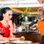 garçom · vinho · asiático · restaurante · garrafa - foto stock © kzenon