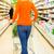 vrouw · winkelwagen · supermarkt · rijden · kruidenier · winkelen - stockfoto © Kzenon
