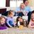 család · játszik · társasjáték · otthon · gyerekek · férfi - stock fotó © kzenon
