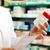 farmacêutico · químico · mulher · em · pé · farmácia · farmácia - foto stock © kzenon