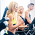 groupe · quatre · personnes · courir · fitness · gymnase · hommes - photo stock © kzenon
